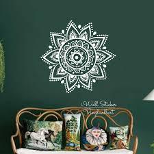 Wall Decals Mandala Ornament Indian by Aliexpress Com Buy Mandala Wall Sticker Modern Yoga Wall Decal