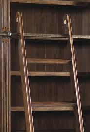 Double Bookcase European Renaissance Ii Double Bookcase With Ladder U0026 Rail By