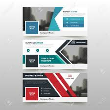 layout banner template blue green red corporate business banner template horizontal