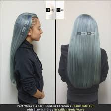 can ypu safely bodywave grey hair faux side cut with blue ish grey brazilian body wave