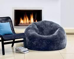Bean Bag Furniture by Fibre By Auskin Sheepskin Bean Bag Chair Steel Gray 3 U2032 Unfilled