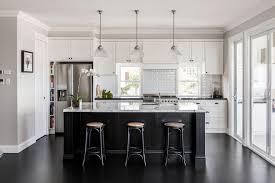black island and white cabinets kitchen delicacy how to bring a brilliant black island into