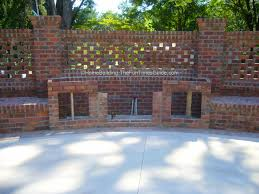 pierced brick wall screen10jpg modern garden design with brick
