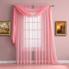 Baby Pink Curtains Warm Home Designs Baby Pink Window Scarf Sheer Pink Curtains