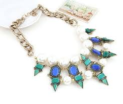 pearl bib statement necklace images Emerald point pearl bib necklace femmi accessories jpeg