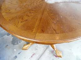 Pedestal Oak Table And Chairs Remodelaholic Re Stained And Painted White Oak Pedestal Table