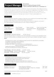 program manager resume project manager cv template construction project management