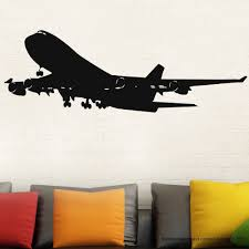 online get cheap airplane bedroom aliexpress alibaba group airplane wall decal stickers decor easy removable sticker mural waterproof wallpaper boy bedroom home