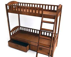 Barbie Bunk Beds Wooden Doll Bunk Bed Etsy