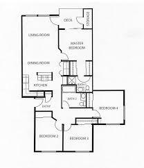 4 Bedroom Floor Plans One Story Four Bedroom Floor Plans Single Story Four Bedroom Floor Plans