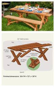 Wooden Picnic Tables With Separate Benches Here U0027s A Really Classy At A Picnic Table Finished Wood On Top And