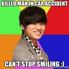 Bigbang Memes - killed man in car accident can t stop smiling daesung bigbang