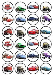 cars cake toppers 24 disney cars edible premium thickness sweetened