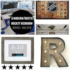 rocco s modern rustic hockey room bedding wall decor mama brooks hockey room