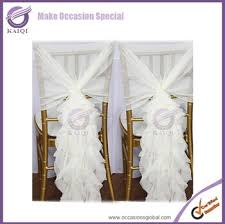 Ruffled Chair Covers Fashionable Design Wholesale Chiffon Ruffled Wedding Chair Covers