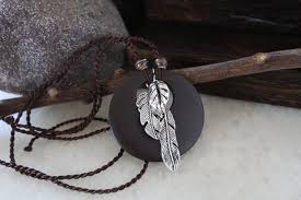 wood pendants necklace images Leaf wood style long ceramics beads necklace fashion jpg