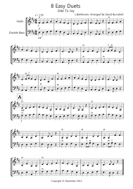 8 easy duets for violin and bass sheet by l