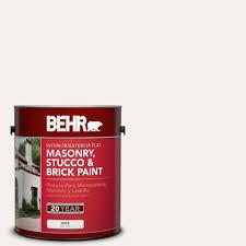 behr 1 gal white flat masonry stucco and brick paint 27001 the