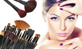 Make Up professional makeup brush set with 32 groupon