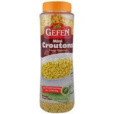 gefen kosher gefen mini croutons soup mandel 14 oz seasonskosher online