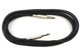 silver 10ft acoustic electric guitar cable bass cable amp lead
