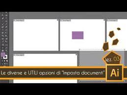 tutorial illustrator italiano tutorial illustrator ita lez 03 le opzioni di imposta documenti