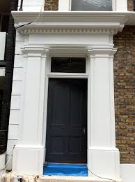 Exterior Door Pediment And Pilasters Simply Mouldings Plaster Mouldings Surrey