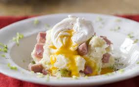 cuisine oeuf stoemp au jambon et oeuf poché cuisine et recettes recette