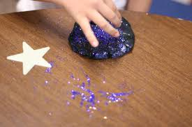 galaxy playdough fairy dust teaching