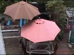Patio Umbrella Fabric by Patio Umbrella Canvas Bleaching Youtube