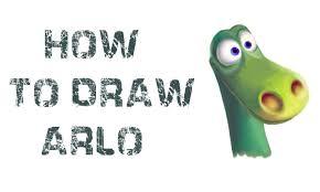 how to draw arlo the good dinosaur youtube