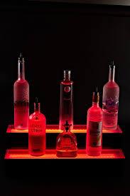 Liquor Display Shelves by Amazon Com 2 Tier Led Lighted Liquor Bottle Display Shelf 24