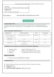 Professional Resume Word Template Sample Resume Format With Work Experience Resume Format In Ms Word