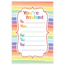 party invitations party invitations 25 unique rainbow party invitations ideas on