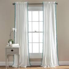 Curtains With Pom Poms Decor Pom Pom Window Curtain Lush Decor Www Lushdecor