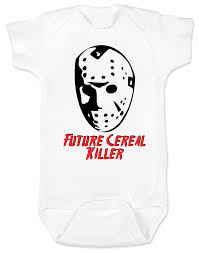 personalized halloween gifts jason cereal killer baby onesie