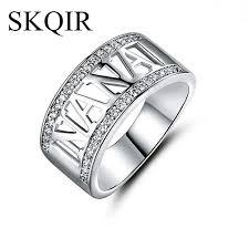 rose color rings images 2018 skqir hot sale silver rose color letter nana ring for women jpg