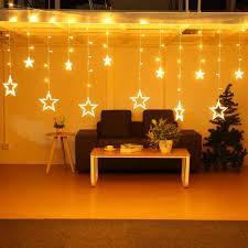 Home Decor Star 5m 138leds Light String Star Curtain Light Home Decor Celebration