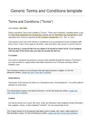 Terms Conditions 40 Free Terms And Conditions Templates For Any Website Template Lab