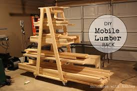 diy mobile lumber rack plans by rogue engineer handmade with