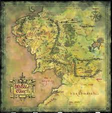 Map Of The World Poster by Middle Earth Best Map Ever Maps From Books Pinterest