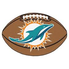 amazon com nfl miami dolphins football rug sports fan area