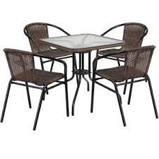 wicker patio dining sets you u0027ll love wayfair