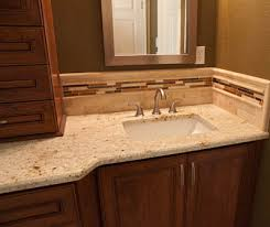 Backsplash For Granite by Granite Countertops Simple Color Scheme Not Too Busy Tile