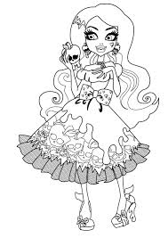 free printable monster high coloring pages for kids within
