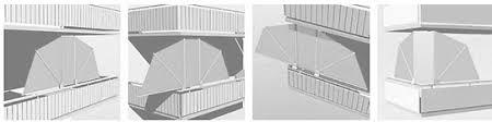 seitenschutz balkon bikatec schirmsysteme balkonfächer wind und sichtschutz