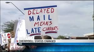 cherrybell post office shut postponed kvoa kvoa