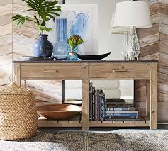 Wooden Console Table Reclaimed Wood Console Table Pottery Barn