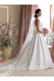 fantastic ball gown sweetheart draped satin lace wedding dress