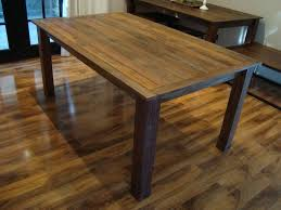 Solid Wood Kitchen Tables Reclaimed Industrial Chic  Seater - Rustic wood kitchen tables